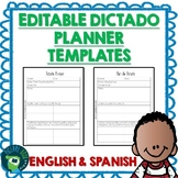 Dictado / Dictation Planner Templates - Bilingual English