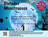 Dictados Monstruosos- Spanish Spelling Test Printables for