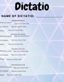 Dictatio template