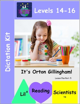 Dictation  Kit - (Advanced) (Bossy R, Vowel Teams, Open, CLE Syllables) (OG)