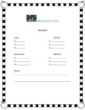 Dictation  Kit - (Advanced - Bossy R, Vowel Teams, Open, CLE Syllables) (OG)