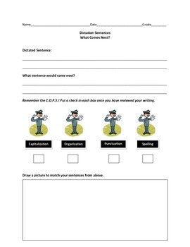Dictation Sentences Worksheets