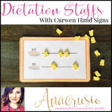 Dictation Staffs - with hand signs!