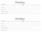 Dictation Worksheet