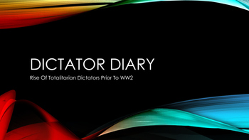 Dictator Diary