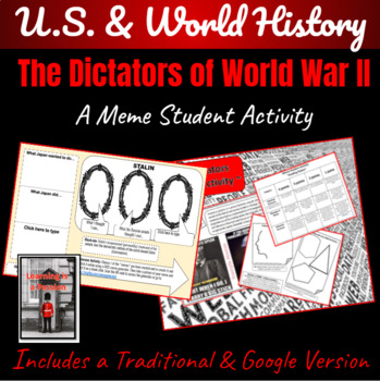 Dictators of WWII ~A Meme Activity~