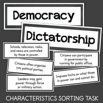 Forms of Government: Dictatorship vs. Democracy