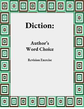 Diction: Author's Word Choice