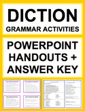 Diction & Irregular Spelling Activities - Worksheets, Powerpoint & Answer Key