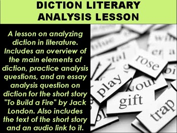 Diction Literary Analysis Lesson