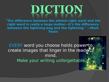 Diction Minilesson