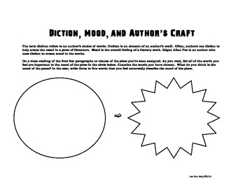 Diction, Mood, and Author's Craft: A Graphic Organizer