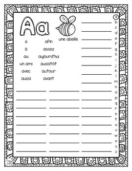 Dictionary Alphabet Book • French • Mon dictionnaire personnel