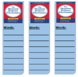 Dictionary Bookmarks