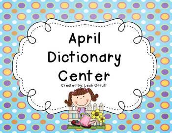 Dictionary Center~April