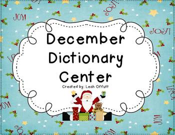 Dictionary Center~December