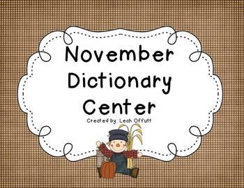 Dictionary Center~November