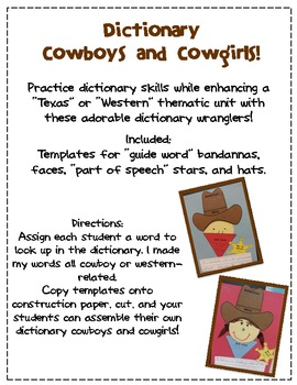 Dictionary Cowgirls and Cowboys