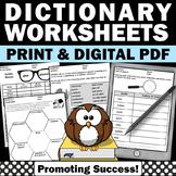 Dictionary Skills 1st Grade Special Education Elementary