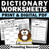 Dictionary Skills Worksheets, Guide Words, Vocabulary