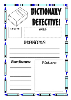 Dictionary Detective Activity By Mrs Millis