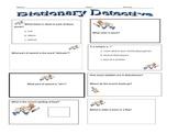 Dictionary Detective Activity Sheet