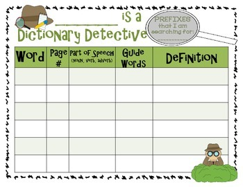 Dictionary Detective: Integrates Prefixes, Suffixes, Spelling, and Vocabulary
