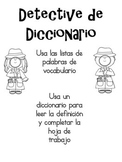 Dictionary Detective (Spanish)
