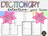 Dictionary Detective Word Work Activity Book - Year Three