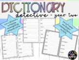 Dictionary Detective Word Work Activity Book - Year Two