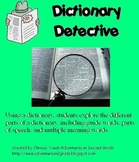 Dictionary Detective Work