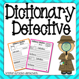 Dictionary Detective (Differentiated Literacy Station Activity)