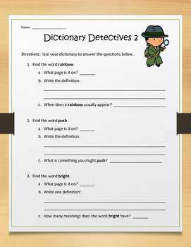 Dictionary Detectives