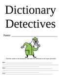 Dictionary Detectives Booklet
