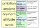 Dictionary Detectives definition match for vocabulary