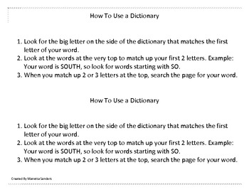 Dictionary Dice
