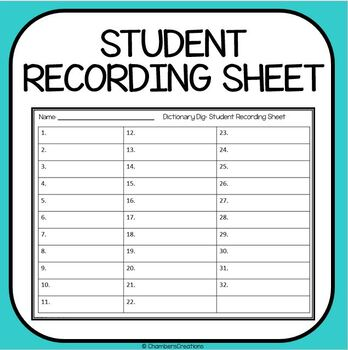 Dictionary Skills- 32 Task Cards- Library Skills, STAAR