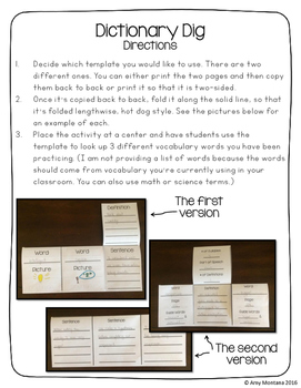 Dictionary Dig {A Perfect Center Activity}