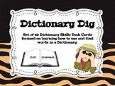Dictionary Dig Task Card Set