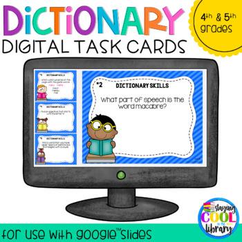 Dictionary Skills Digital Task Cards for Google Slides (Set B)