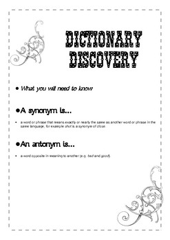 Dictionary Discovery