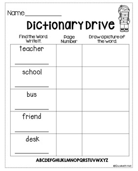 Dictionary Drive {editable}