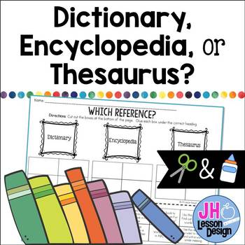 Dictionary Encyclopedia or Thesaurus? Cut and Paste