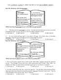 Dictionary Entry Context Clue Worksheet