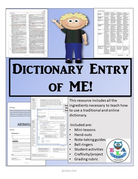 Dictionary Entry of ME!