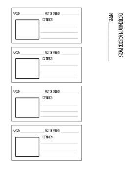 Dictionary Flag Book Activity PDF