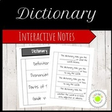 Dictionary Foldable