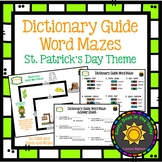 Dictionary Guide Word Mazes: St. Patrick's Day