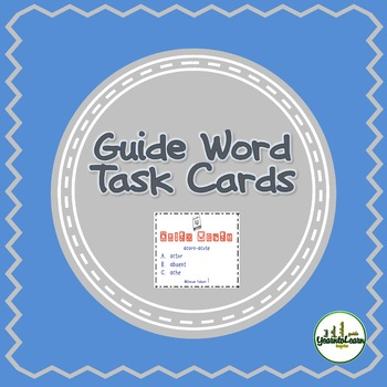 Guide Words Dictionary Task Cards