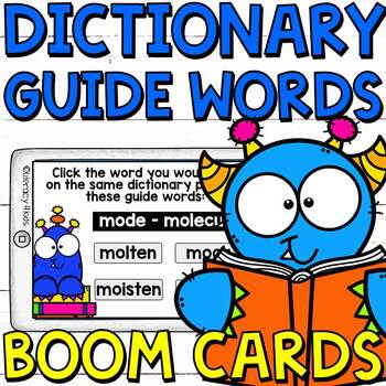 Dictionary Guide Words Boom Cards (Digital Task Cards)